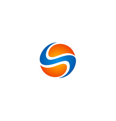 sphere technology letter s logo vector image