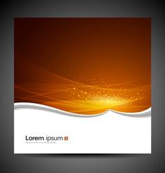 Banners modern wave orange background vector image vector image