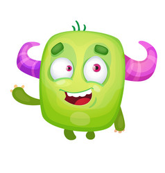 cartoon cute monster vector image vector image