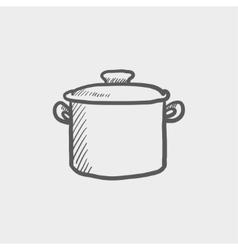 Casserole sketch icon vector