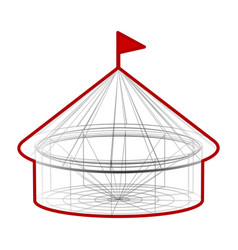 circus tent in wireframe form vector image vector image