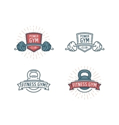 Fitness logo set vector image vector image