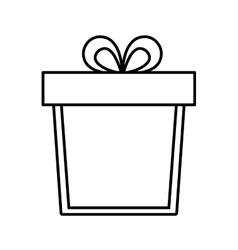 gift box ribbon anniversary party linear vector image vector image