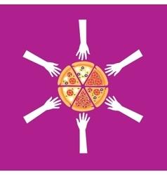 pizza logo vector image