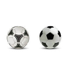 realistic soccer ball or football ball isolated vector image vector image