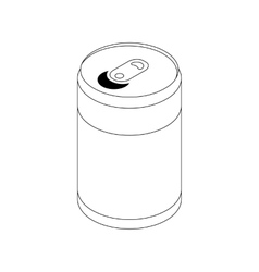 Soda can icon isometric 3d style vector image