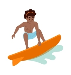 Surfing boy boy vector image