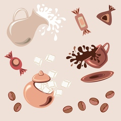 Breakfast with coffee vector image vector image
