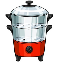 Double boiler vector image vector image