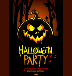 halloween design template pumpkin head and place vector image