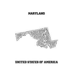 Label with map of maryland vector image vector image