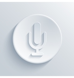 modern microphone icon vector image