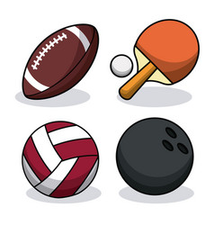 set sport balls equipment image vector image