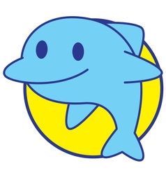 Smile Dolphin vector image