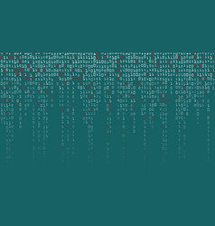 binary code background high-tech matrix vector image vector image