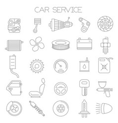 car service and pars icon set vector image vector image