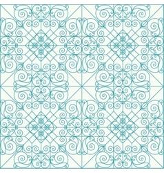 Geometric seamless ethnic background vector image