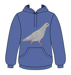 Going gray pigeon hoodie sweater vector image vector image