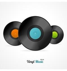 Vinyl Record Set vector image