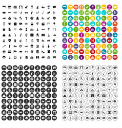 100 mask icons set variant vector