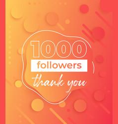 1000 followers banner for social networks vector