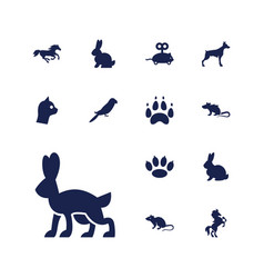 13 pet icons vector