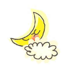 A moon in the skyA moon in the sky vector