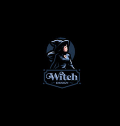 A witch in witchs hat vector