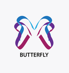 abstract butterfly logo vector image
