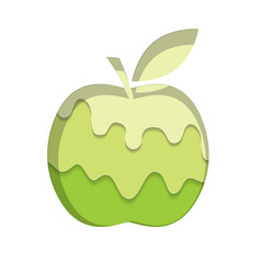 apple silhouette template melted flowing lime vector image