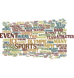 Armchair olympian text background word cloud vector
