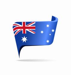 Australian flag map pointer layout vector