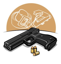Automatic handgun vector