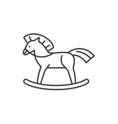 baby horse line icon concept baby horse vector image