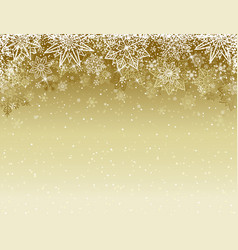 Beige christmas background with snowflakes vector