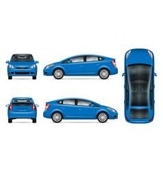 Blue car mockup vector