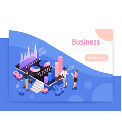 business teamwork page design vector image