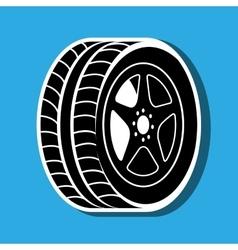 Car tires design vector
