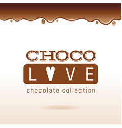 Chocolate logo text lettering cocoa dessert vector