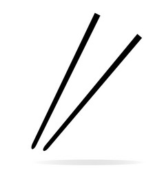 chopsticks icon on white background chopsticks vector image