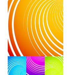 colorful vibrant backgrounds with swirls spirals vector image