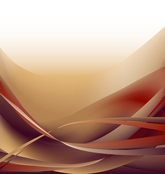 Colorful waves isolated abstract background ocher vector