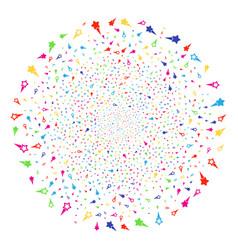 confetti stars festive globula vector image