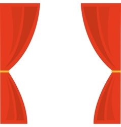 Courtain show theater icon vector