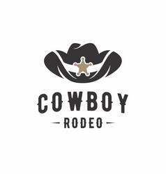 cowboy hat logo design inspiration vector image