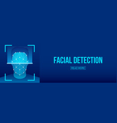 creative of biometric face vector image
