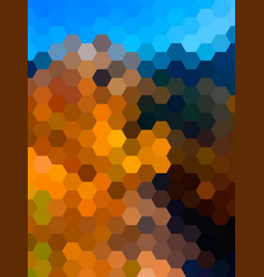 Defocused hexagon landscape background vector