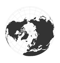Earth globe focused on arctica and north vector