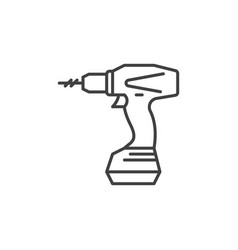 electric screwdriver outline icon or design vector image