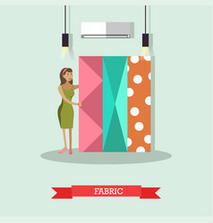 Fabric concept in flat style vector